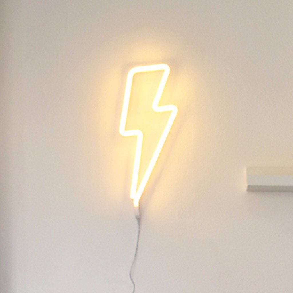 A Little Lovely Company Neon Yellow Lightning Bolt Light