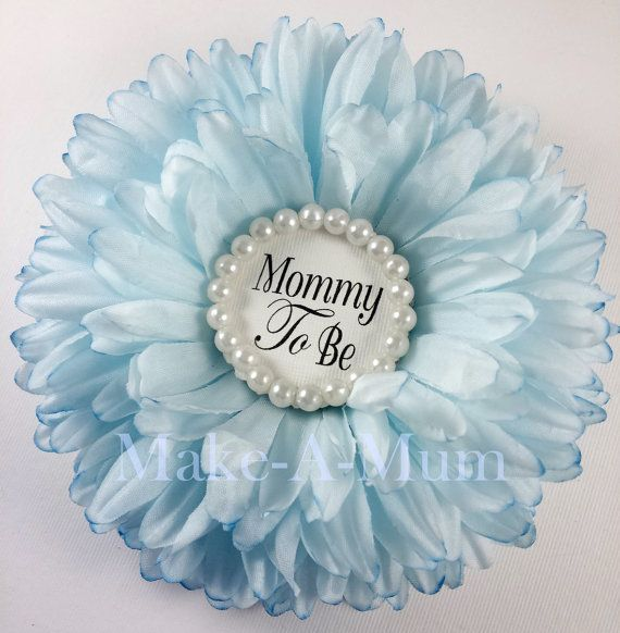 Blue Baby Boy Shower corsage, baby shower party favors, Mommy To be pin ,Grandma to be pin,  bLUE pEONY, pEARLS/mtb #bluepeonies