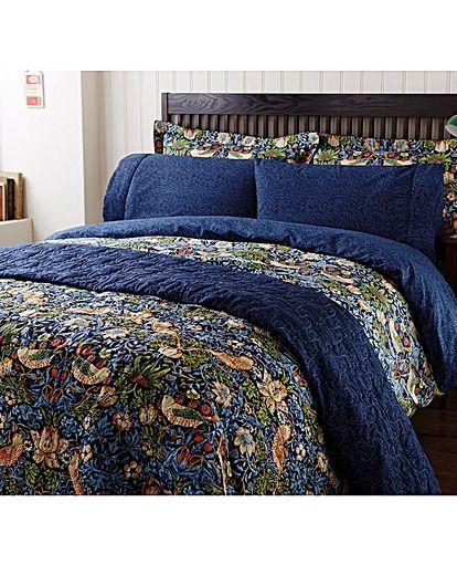 William Morris Strawberry Thief Dvt Covr House Of Bath Bedroom Comforter Sets Craftsman Living Room William Morris