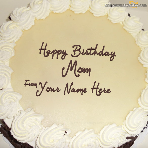 Write name on Simple Birthday Cake For Mother Happy Birthday