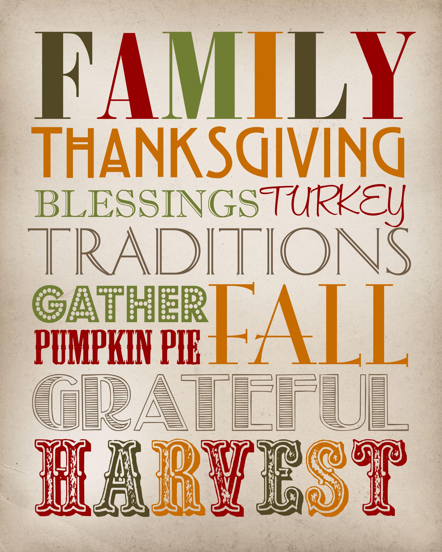 Thanksgiving Subway Art Thanksgiving Printable Thanksgiving