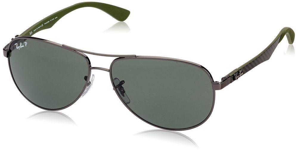 Ray-Ban Men\'s Carbon Fibre Polarized Aviator Sunglasses, Gunmetal ...