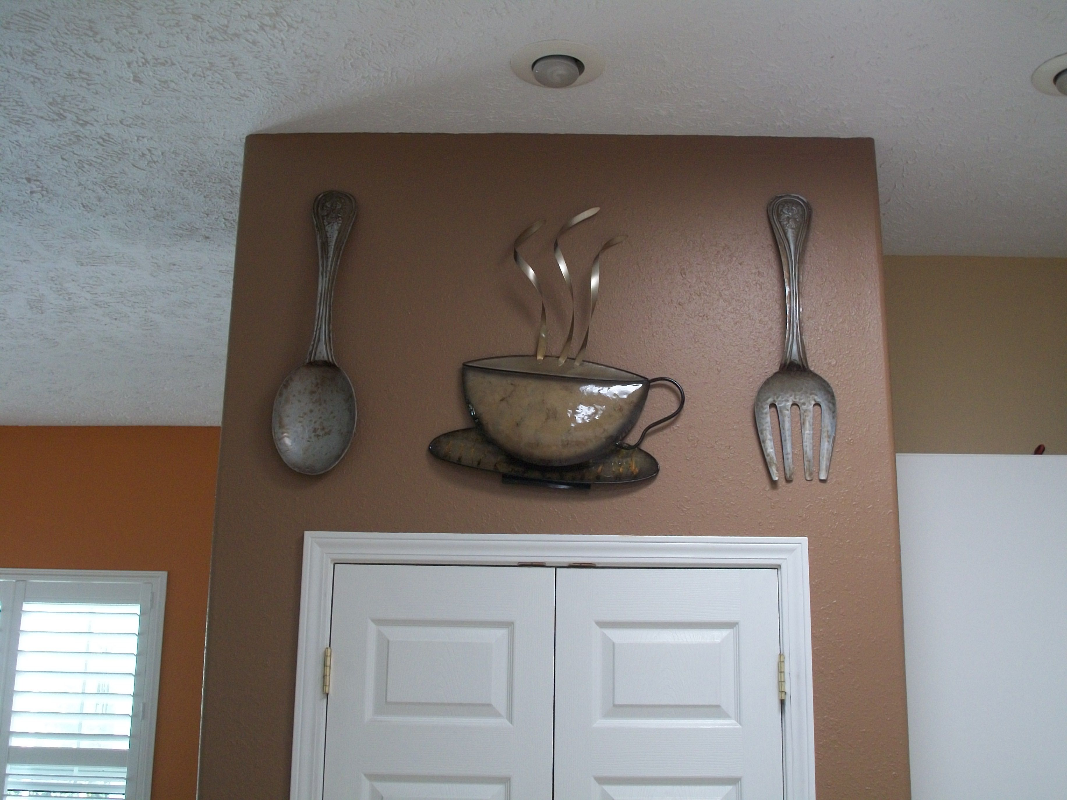 Kitchen decor. Got these cool pieces at Kirklands Home decor