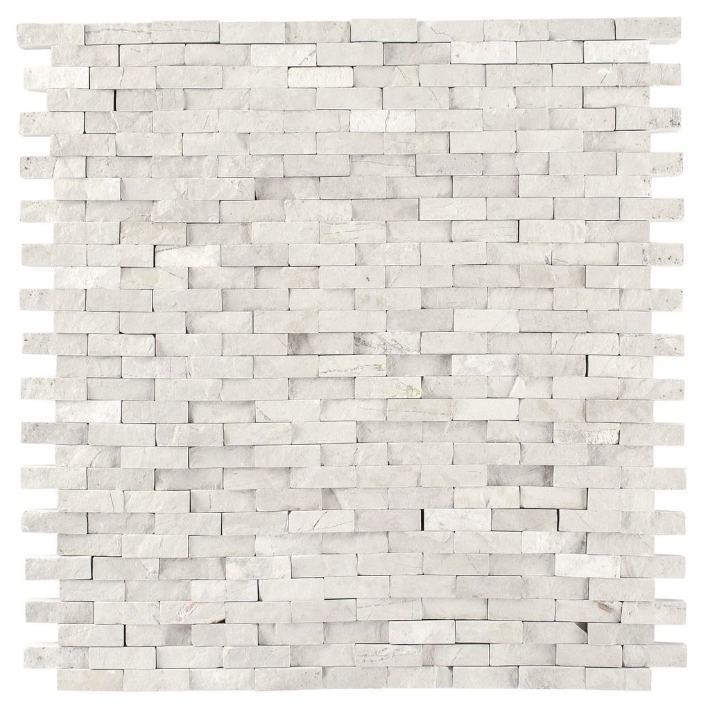 - Haisa Light Marble Split Face Mosaic Tile Mosaic Tiles, Stone