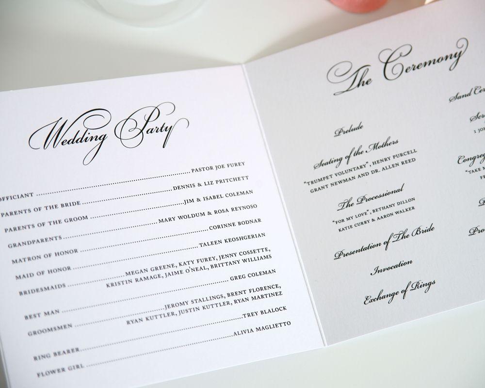 circle monogram wedding programs wedding wedding programs