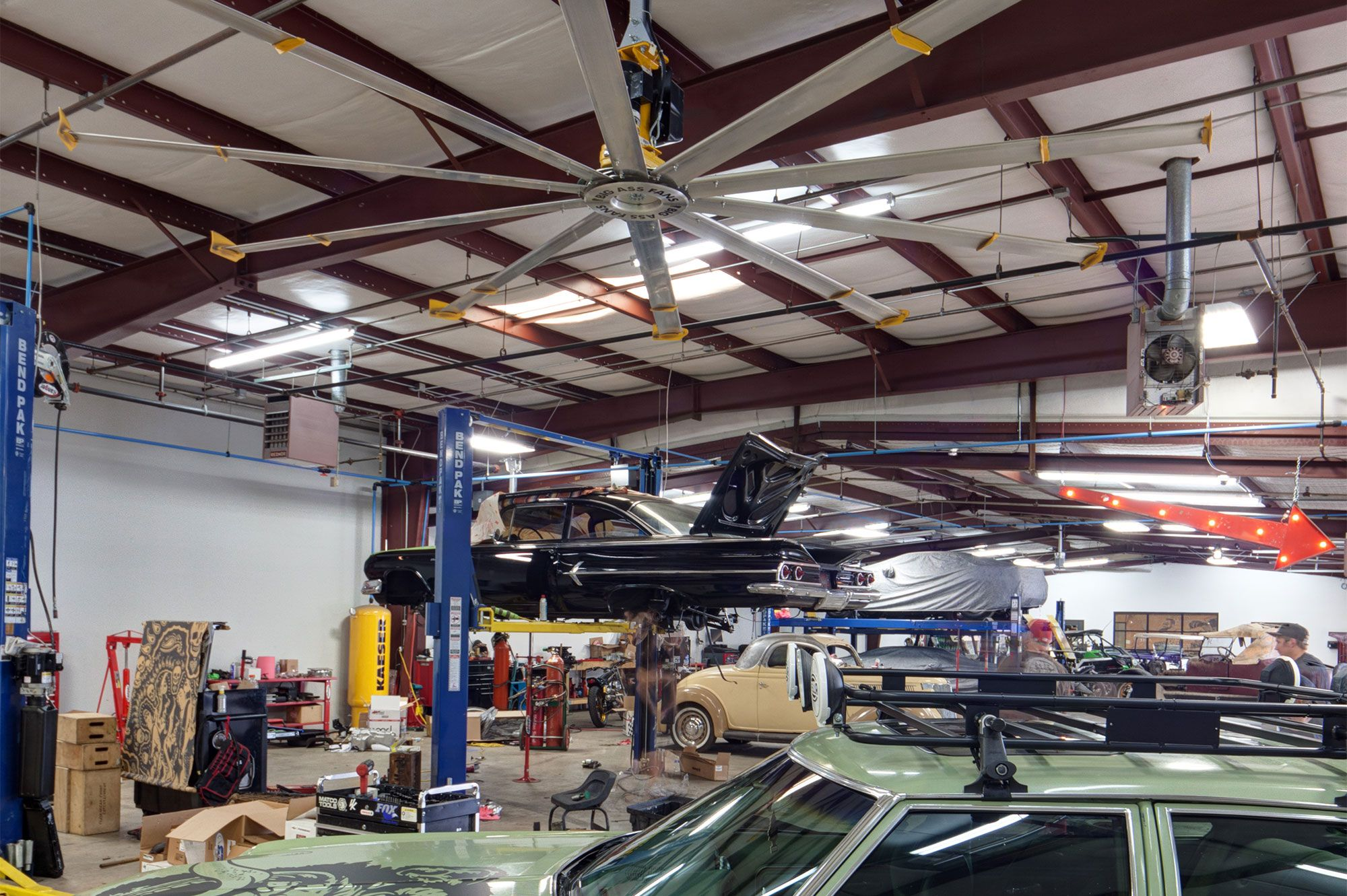 Gas Monkey Garage Uses Large Portable Fans Ceiling Fans By Big