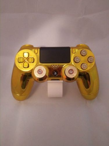 Official Ps4 Controller Customised Chrome Gold Shell w/ Gold