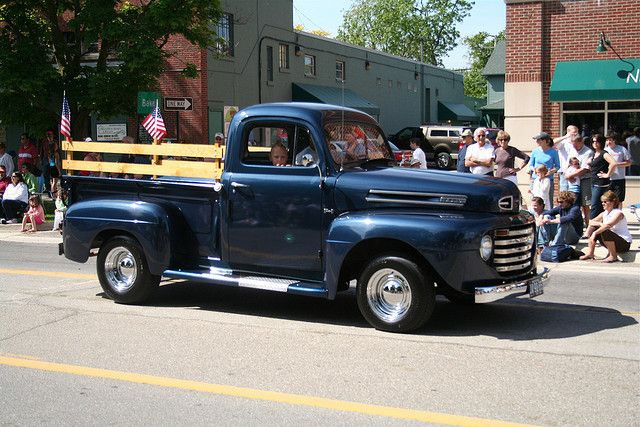 50s Ford Truck >> Old Classic Blue Truck Vintage Trucks Classic Trucks Old