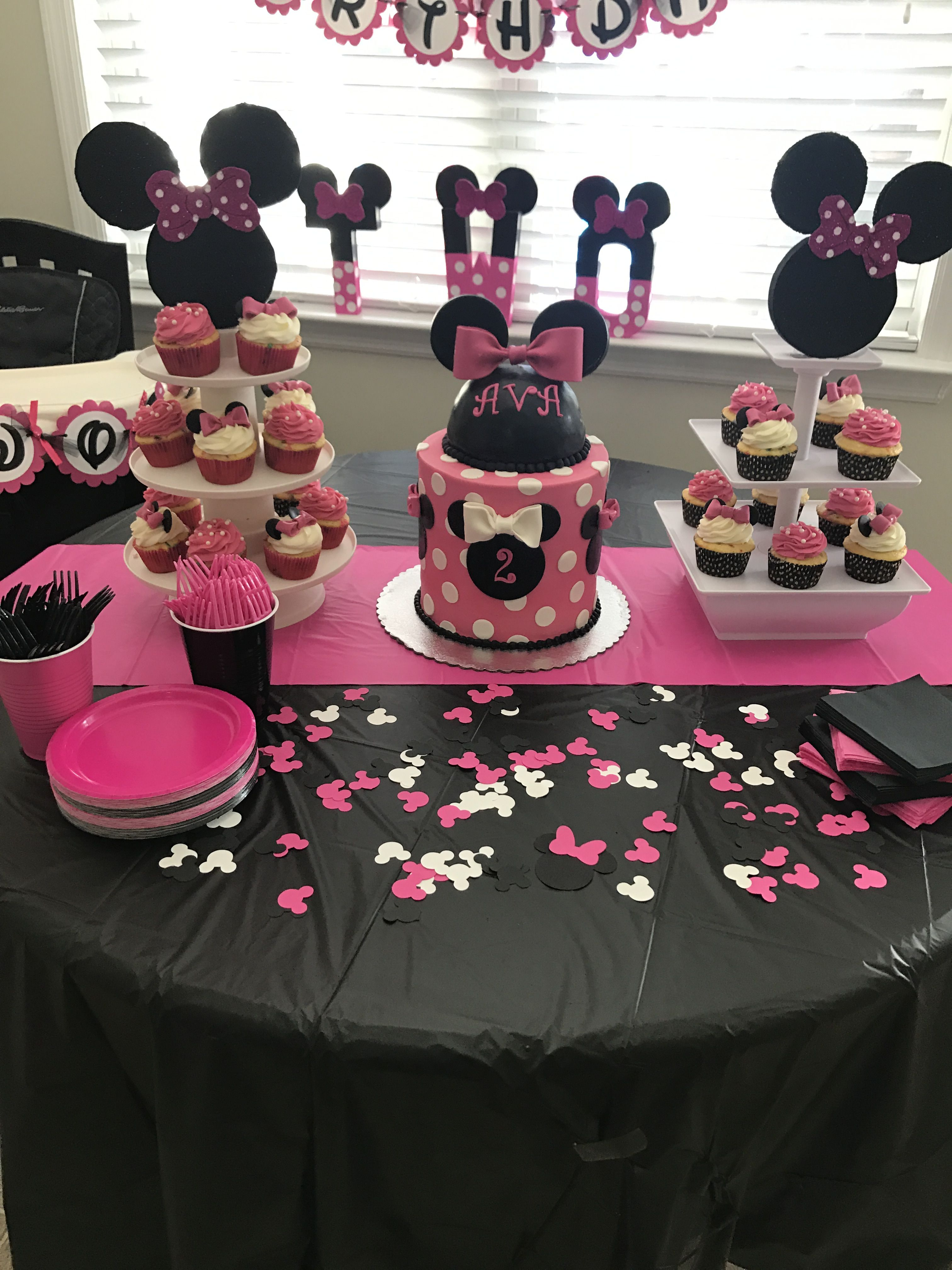 Minnie Mouse Party Minnie Mouse First Birthday Minnie Mouse Birthday Party Decorations Baby Birthday Party Girl