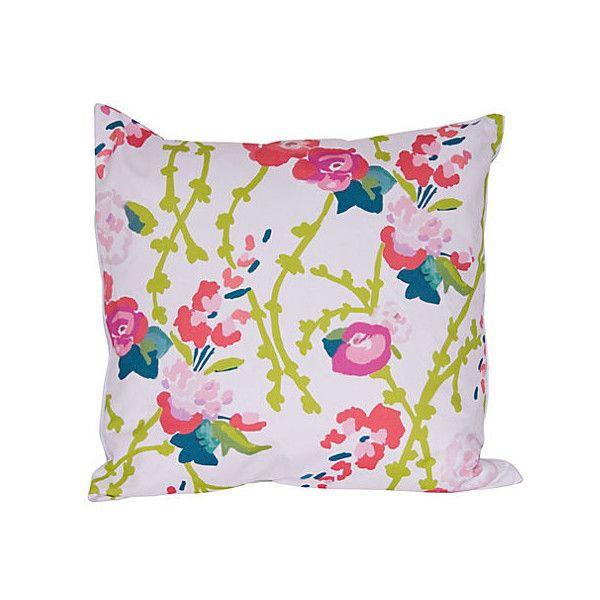 Dana Gibson Chintz 40x40 Pillow PinkGreen Decorative Pillows 40 Cool Pink And Green Decorative Pillows