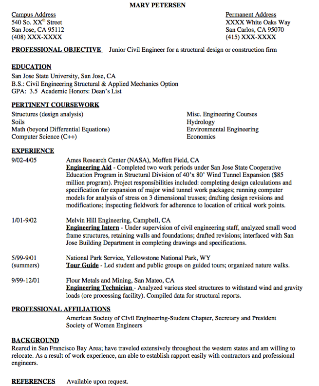 Civil Engineer Resume Sample Examples Resume Cv Civil Engineer Resume Resume Cv Resume