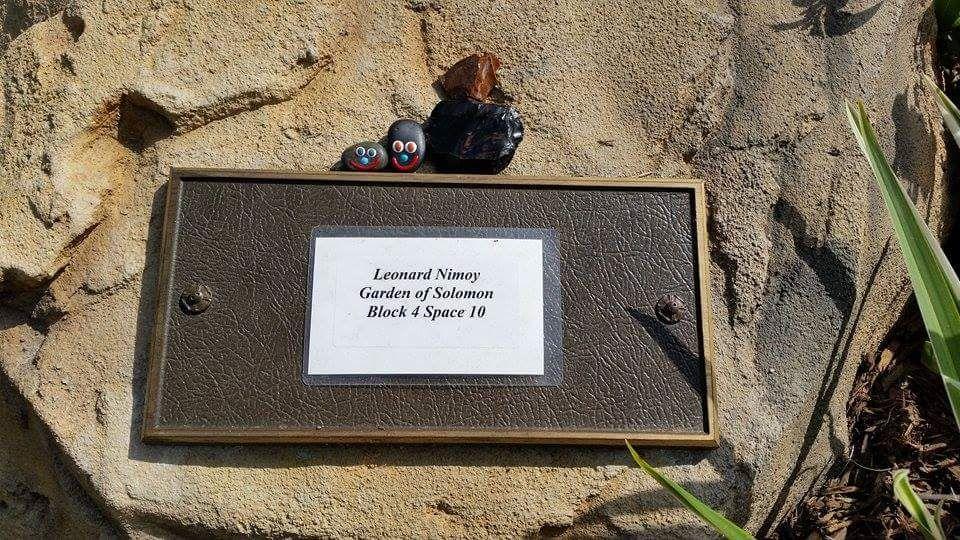 Leonard Nimoy Hillside Memorial Park Culver City Ca Plot Garden Of Solomon Block 4 Space 10 Temporary Marker Famous Tombstones Famous Graves Grave Marker