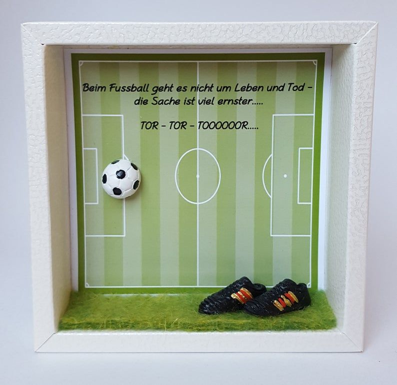 Money Gift Fussball Football Fan Coupon Xmas Ceramic Hand Cast And Hand Painted Money Gift Wrapping Wooden Frame For Hanging Fussball Geschenke Geschenke Fur Manner Geldgeschenke Fussball