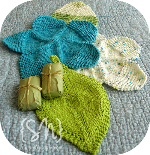 Knitted Flower Power Washcloths Pattern Free I Will Use These For