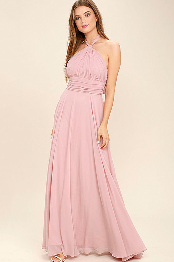 05b2f376b74 Look perfectly pretty at your next party with this adorable dress!  dress   maxi  pink  party