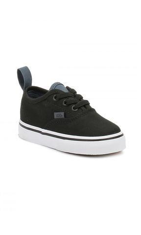 9f3989d1c60 Vans Toddler Authentic Elastic Lace Shoes Black/White/Slate   For ...