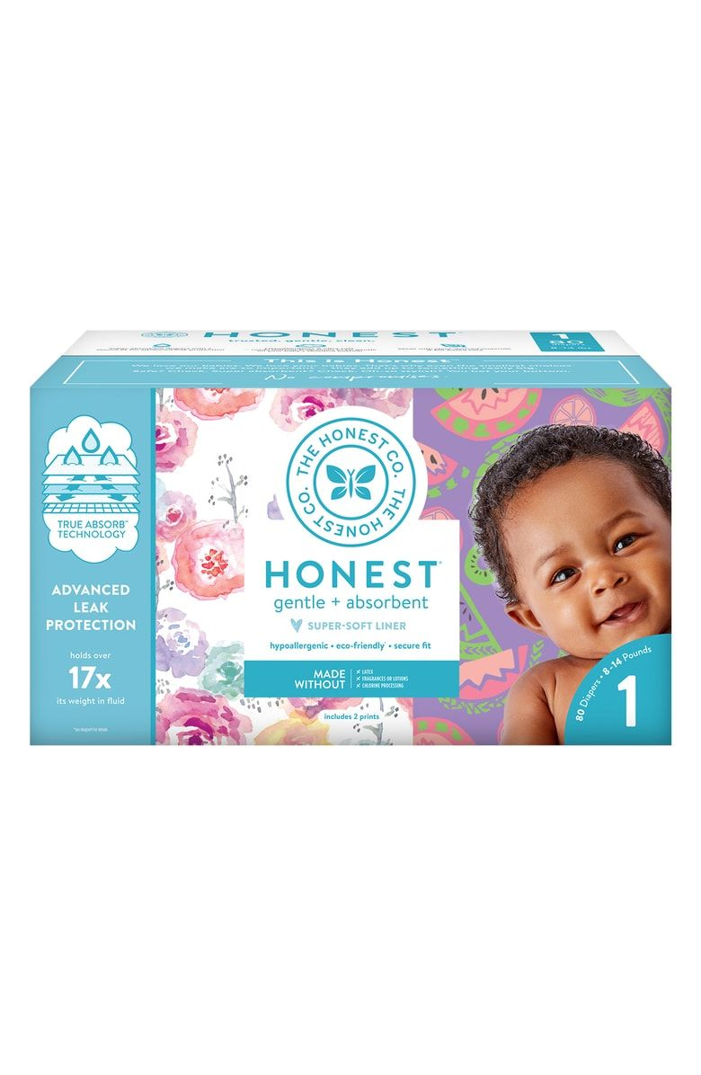 The Honest Company Super Club Box Diapers with TrueAbsorb Technology Space Trav