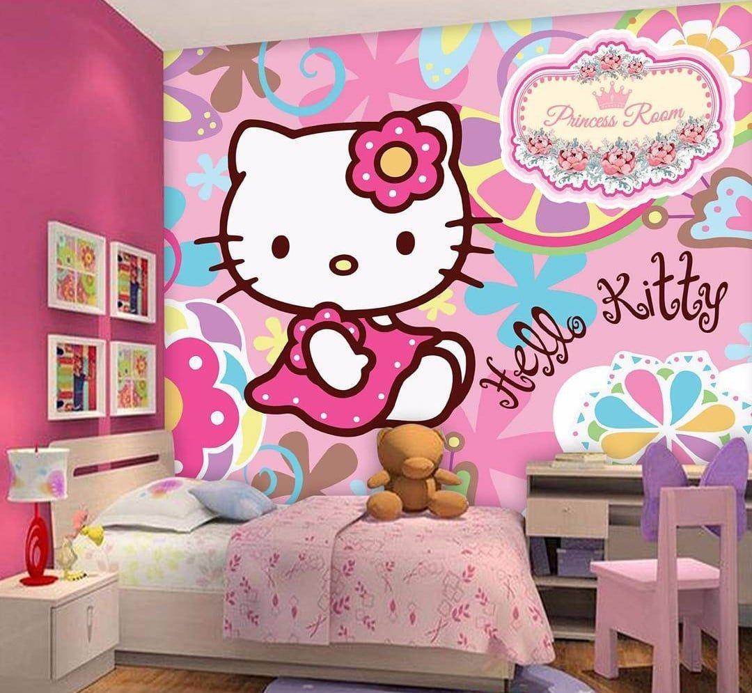 Desain Sticker Dinding Kamar Tidur Anak Perempuan With