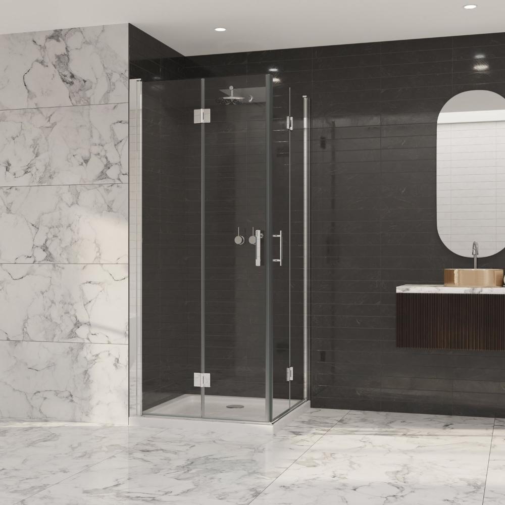 Coram Premier 8 Double Bi Fold Door Shower Enclosure 900mm X 900mm