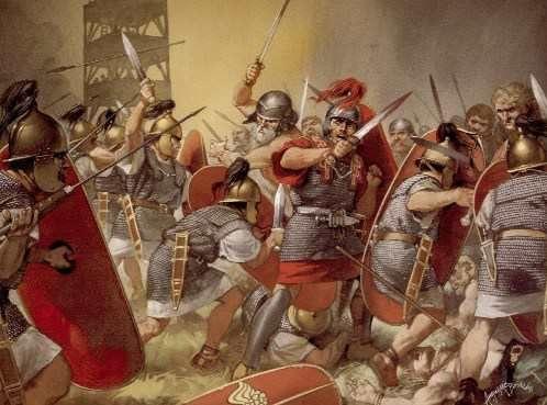Representacion Artistica De La Caida Del Imperio Romano De Occidente Siendo Su Caida Definit Imperio Romano Imperio Romano De Oriente Ilustracion De Guerreros