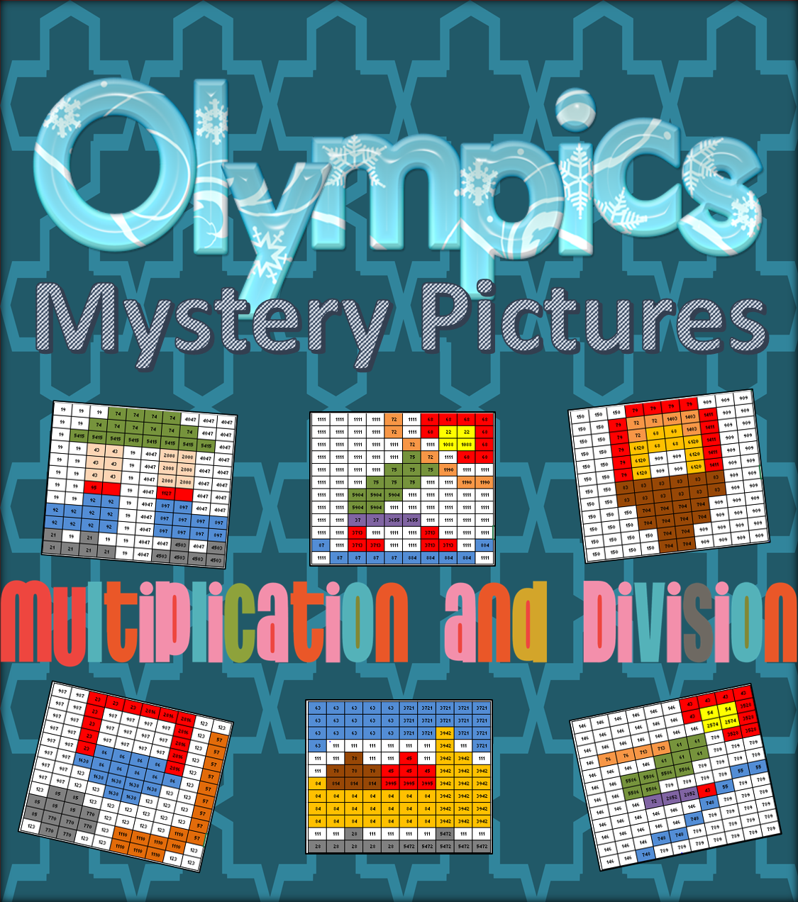 Mystery Pictures For Multiplication And Division Review