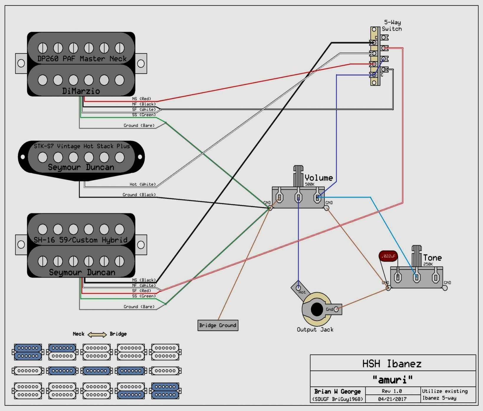 New Wiring Diagram Fender 5 Way Switch With Images Ibanez