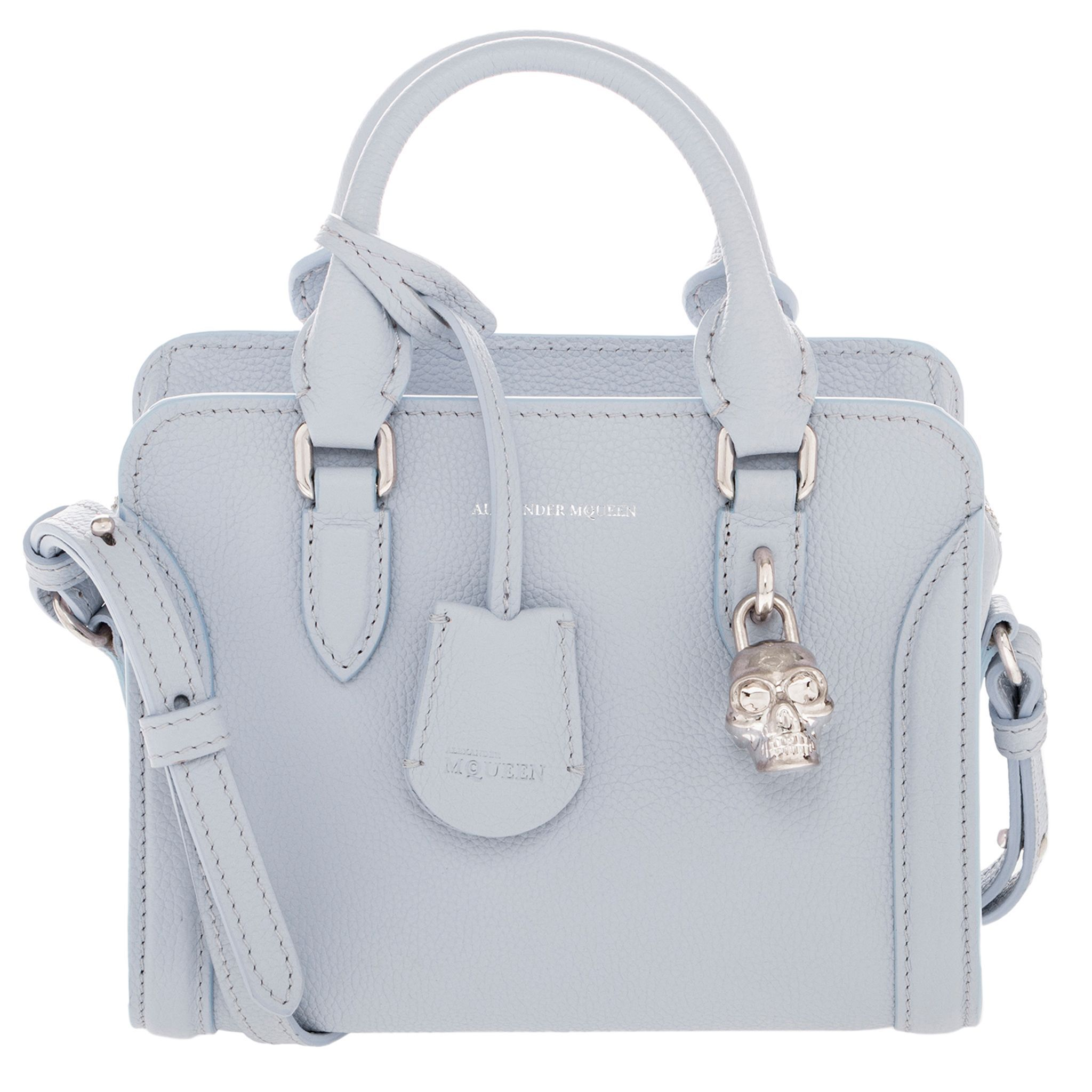 Alexander McQueen Small Mini Padlock Grainy Top Handle Bag