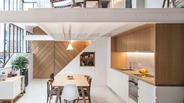En vidéo  un loft réaménagé à moindre frais Salons, Lofts and Walls