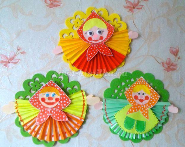 Кукла Масленица из цветной бумаги своими руками | Детские ...