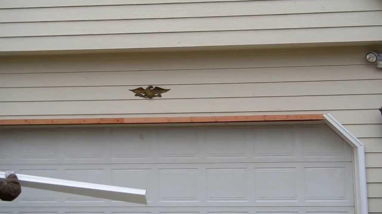 Wooden Door Frame Around Garage Door