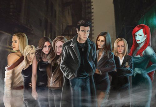 Lasciel, Molly Carpenter, Anastasia Luccio, Elaine Mallory, Harry Dresden, Susan Rodriguez, Karrin Murphy, and Leanansidhe. ~ by Mr. Sinister 616