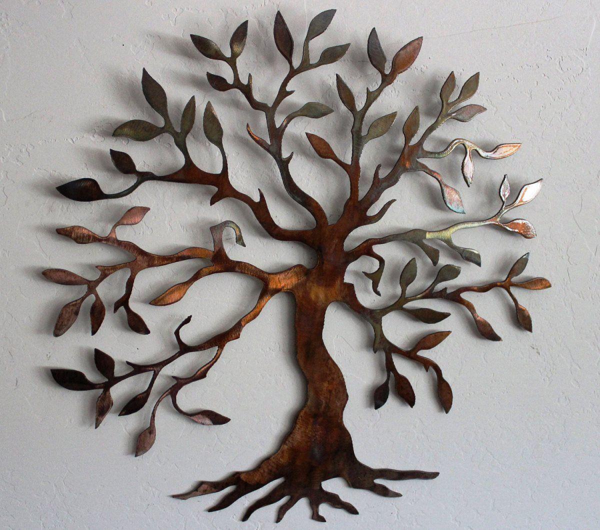 Metal Tree Wall Hanging Metal Wall Decor 2014  Wall Art Decor  Pinterest  Metal Walls