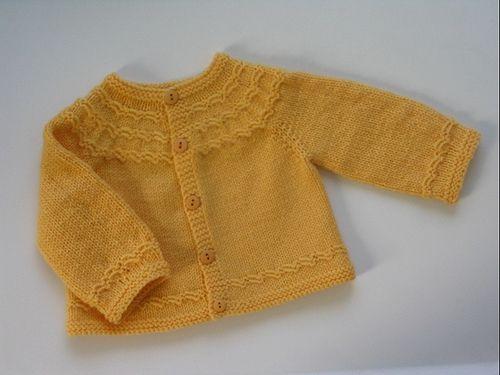 Seamless yoked baby sweater (newborn/3mon) - free by Carole ...