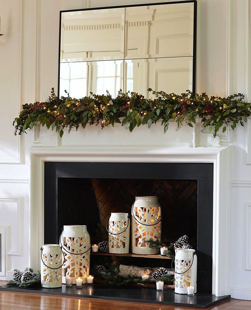 pottery barn christmas mantel on professional tips for decorating your holiday mantel pottery barn candles in fireplace candle decor holiday fireplace pinterest