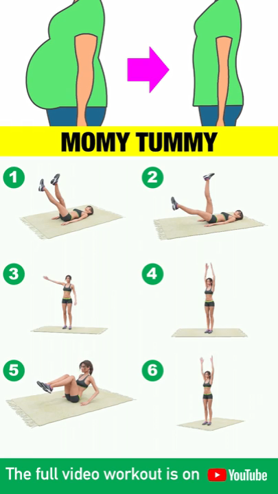 Get Rid Of Mommy Tummy: Workout To Lose Postpartum Belly #strengtheningexercises