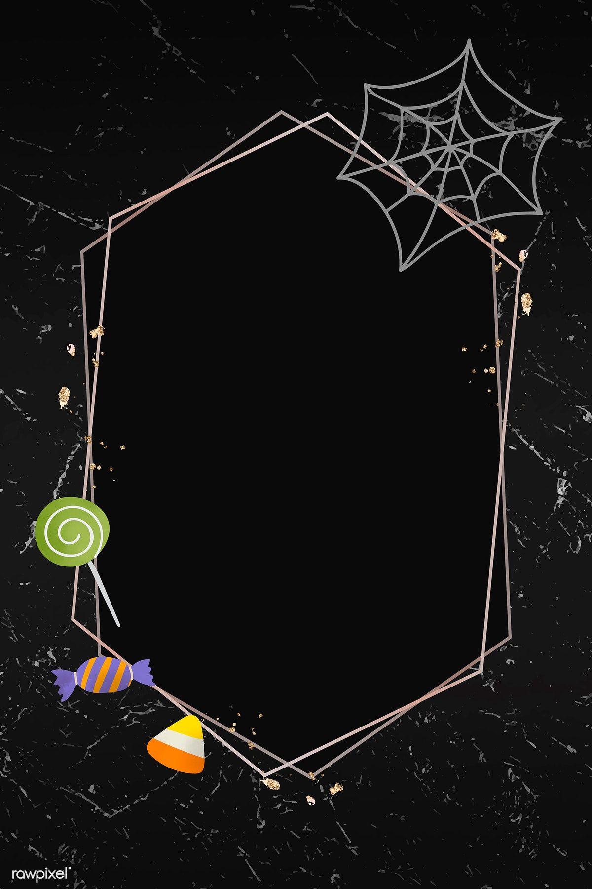 Download Premium Vector Of Halloween Gold Frame On Black Background Vector Gold Frame Beautiful Wallpapers Backgrounds Halloween Wallpaper