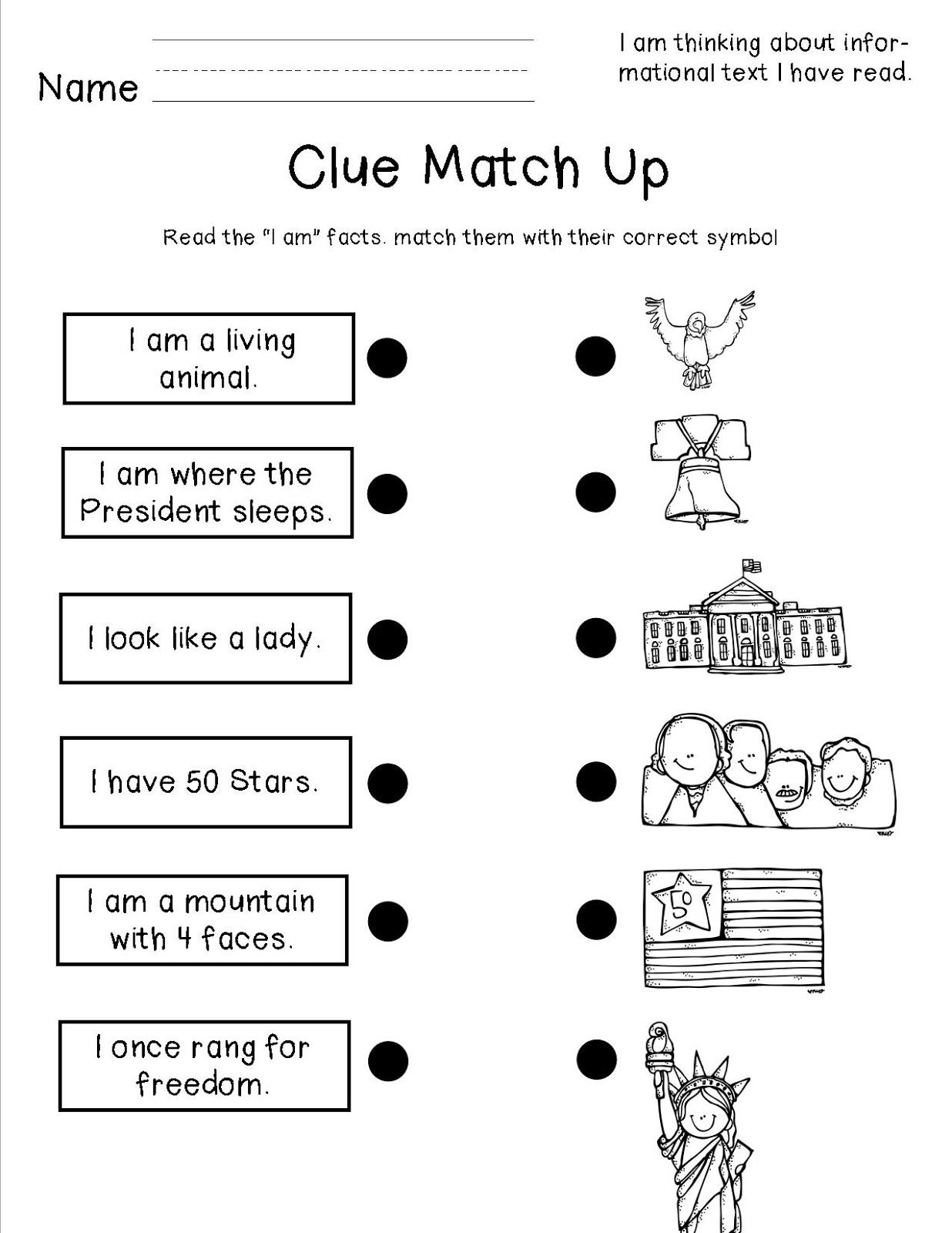 Worksheet Us Symbols For Kids