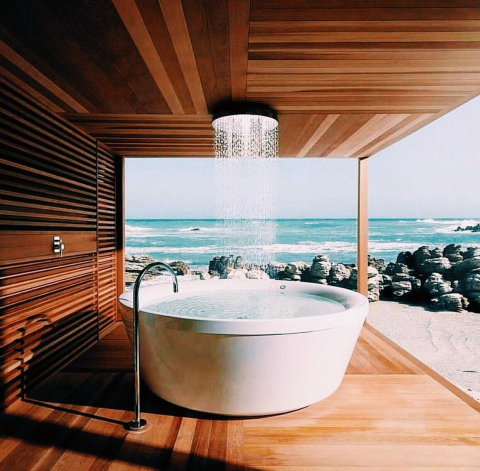 Pin By 🥥 On Vsco Luxury Bathtub Outdoor Bathrooms Shower Fixtures