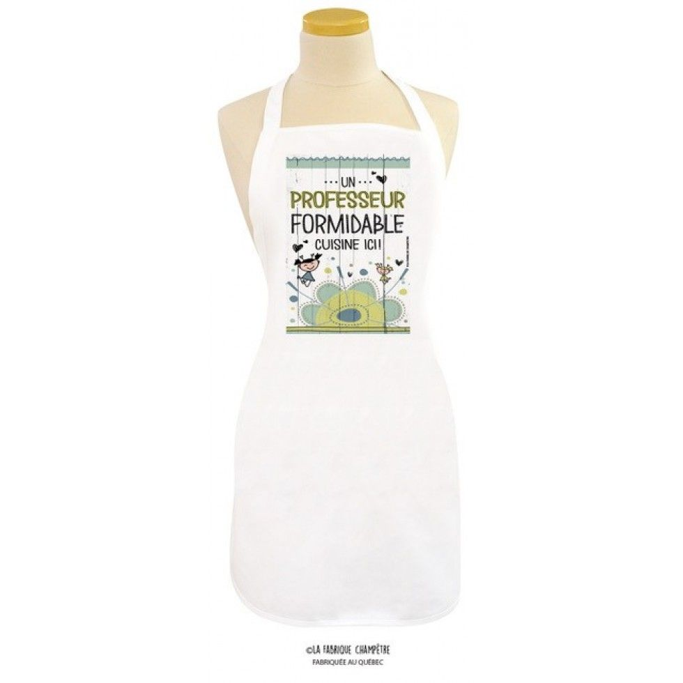 Tablier Un Professeur Fantastique Cuisine Ici Tablier Blanc