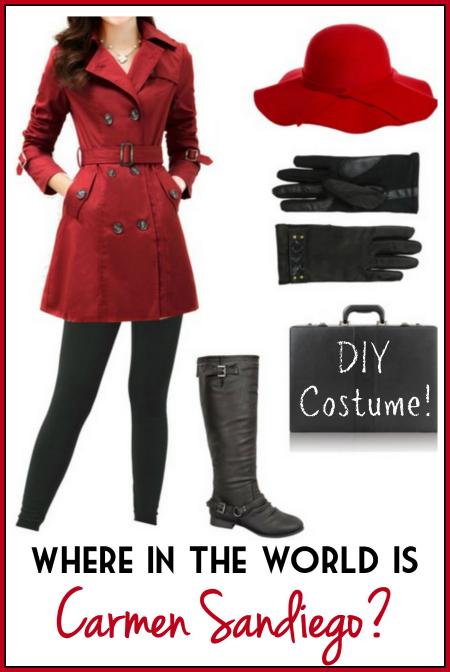 Make Your Own Diy Carmen Sandiego Costume Using This Short