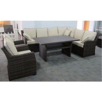 Salceda Beige Brown Sofa Sec Chair W Cush 3 Cn Brown Sofa Brown Lounge Furniture
