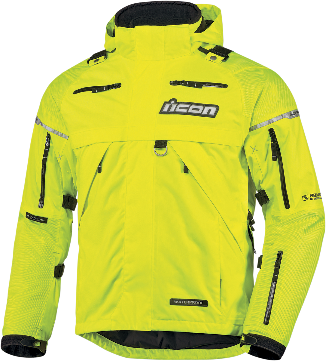 Patrol Waterproof Jacket Yellow Products Ride Icon
