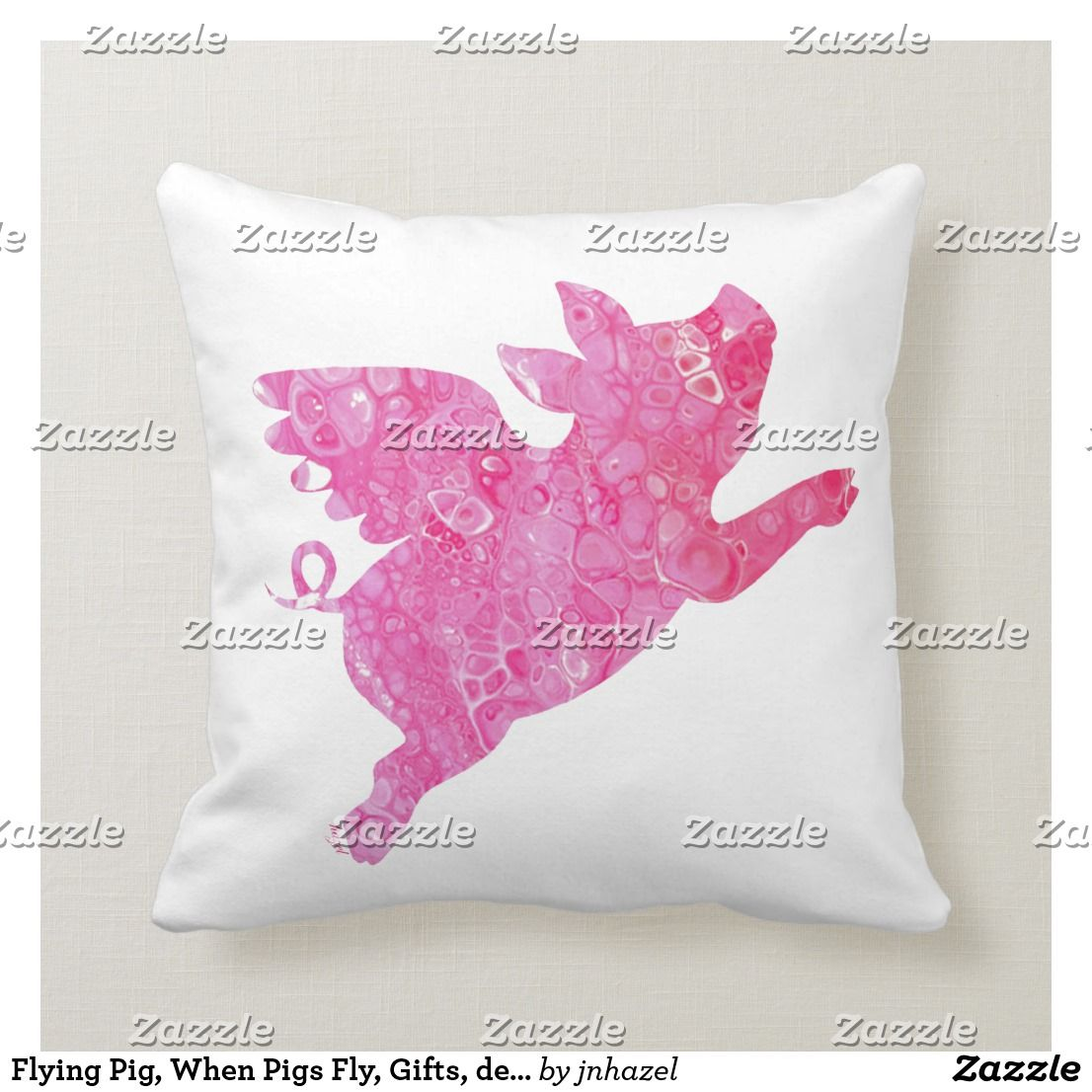 Flying Pig, When Pigs Fly, Gifts, decor, Throw Pillow ...