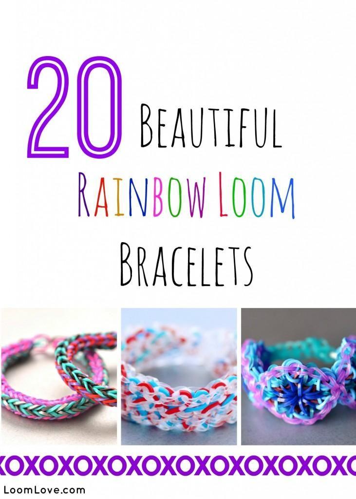 20 rainbow loom bracelets
