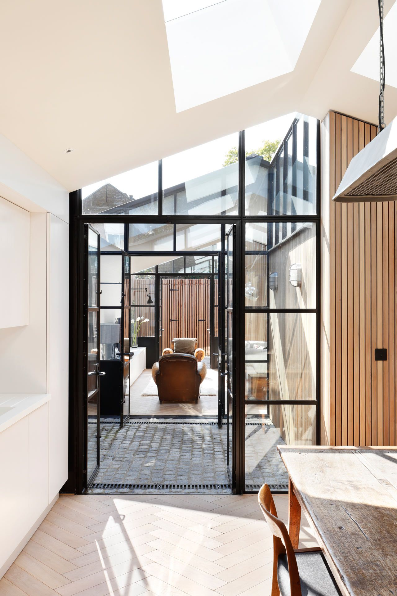 A london wood yard converted into a lightfilled family home in