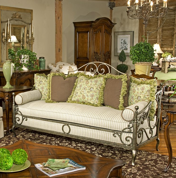 Highland House Furniture 4148 80 Provence Iron Sofa Antique Bedroom Furniture Wrought Iron Furniture Furniture