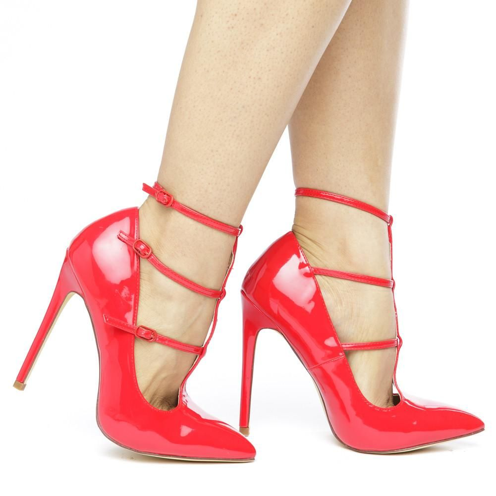 3541c2d67 The ANYA T-STRAP PATENT PUMP - RED -  madcurves  fashionista  shoes ...