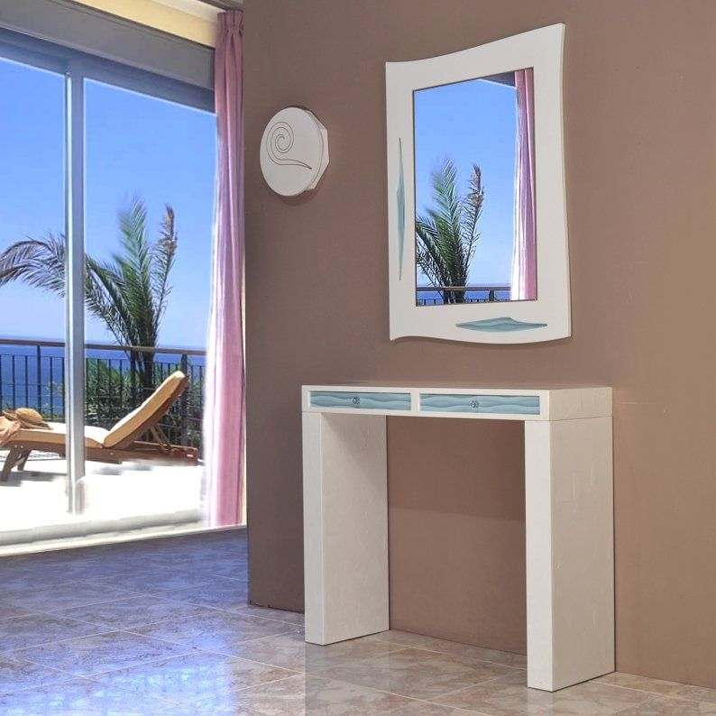 Resultado de imagen para fotos de mesas para recibidor for Espejo gris plata