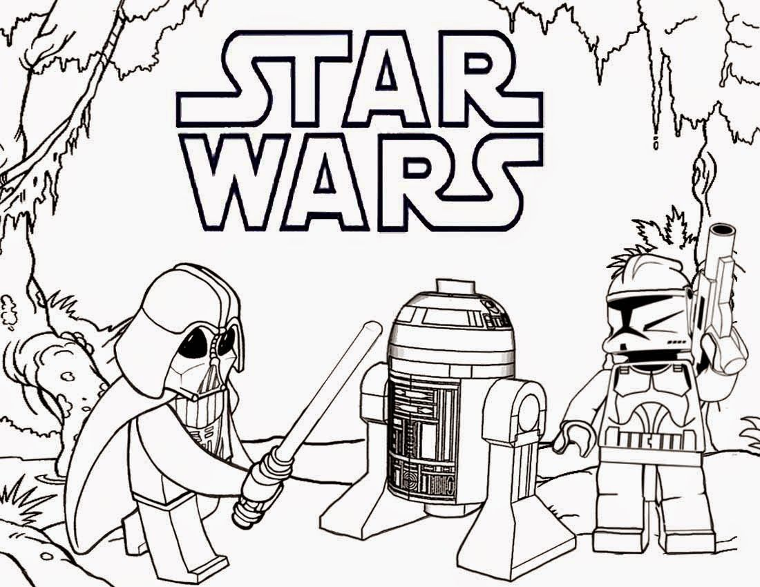 Lego Star Wars Coloring Pages Free | fun | Pinterest | Lego star ...