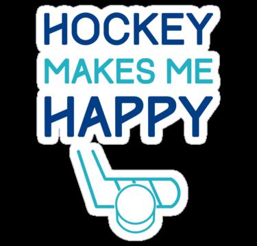 Hockey Makes Me Happy Sticker By Gamefacegear Happy Stickers Make Me Happy Hockey